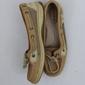 Women's 6.5m Sperry top Sider tan leather boat